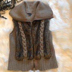 Armani Exchange Wool Faux Fur Vest- Size M
